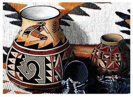 "4 Pc 18"" Kokopelli Pottery Southwest Woven Placemat Set - $48.00"