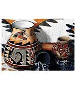 "4 Pc 18"" KOKOPELLI Pottery Southwest WOVEN Placemat SET - $38.50"