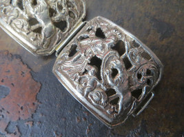 800 silver Peruzzi Italy Style not marked Wide bracelet figural Putty/Greek Myth - $220.00