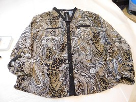 Notations Long Sleeve shirt blouse Womens Size S small Nuetrals NWT - $21.77
