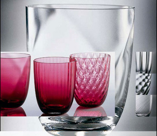 NasonMoretti Made in Italy Glassware - Idra Set of Six in Ruby