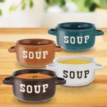 Soup Bowl Set, Speckled Colored Chicken Noodle Asian Miso Soup Bowls Set... - $34.79