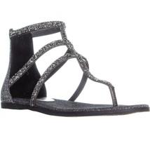 Jessica Simpson Cammie Zip Up Flat Sandal, Pewter Multi - $35.99