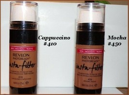 NEW REVLON PhotoReady Insta-Filter Foundation #410 CAPPUCCINO  #450 Mocha - $5.99