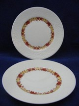 2 Hutschenreuther Embossed Center Ring Bread Plates - $19.95