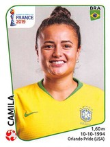 2019 Panini FIFA Women's World Cup France Sticker #221 Camila - $1.95