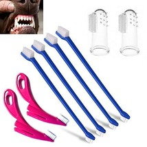 ASNME Dog Toothbrush, Cat Toothbrush,4 Pack Finger Toothbrushes and 4 Mi... - $219,89 MXN