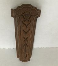 vintage retro homco plastic wood grain look wall pocket scissor pencil h... - $14.85