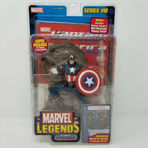 MARVEL LEGENDS Captain America SERIES VIII TOY BIZ Action Figure NIB 2004