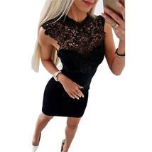 New Arrivals Summer Dress 2018 Women Sexy Club Slim Fit Lace Bodycon Par... - $27.96