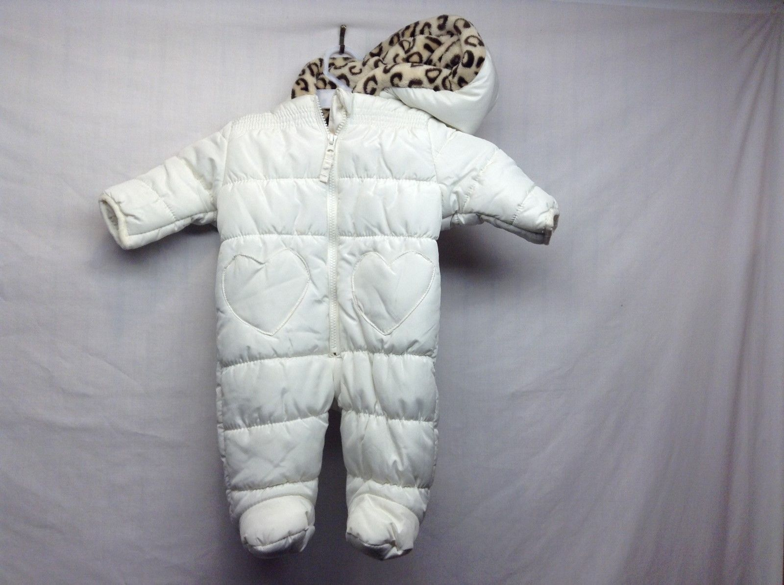 Weatherproof Infant Hooded Winter Snowsuit/Gear Sz 3/6 M