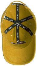Lacoste Men's Gabardine Cotton Big Croc Logo Yellow-4bw Strap Back Hat Cap image 3