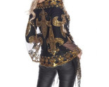 New Orleans Saints Black & Gold Fleur De Lis Sequined Shawl scarf Mardi Gras Tab