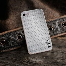 Diamond Plate iPhone Cover with White Trim - $34.70 CAD