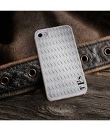 Diamond Plate iPhone Cover with White Trim - $26.13