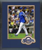 Craig Counsell 2018 Milwaukee Brewers -11x14 Team Logo Matted/Framed Photo - $43.95