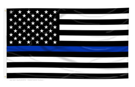 Flag 3X5 USA black and white Support the POLICE 3'x5' Law enforcement US... - $9.90
