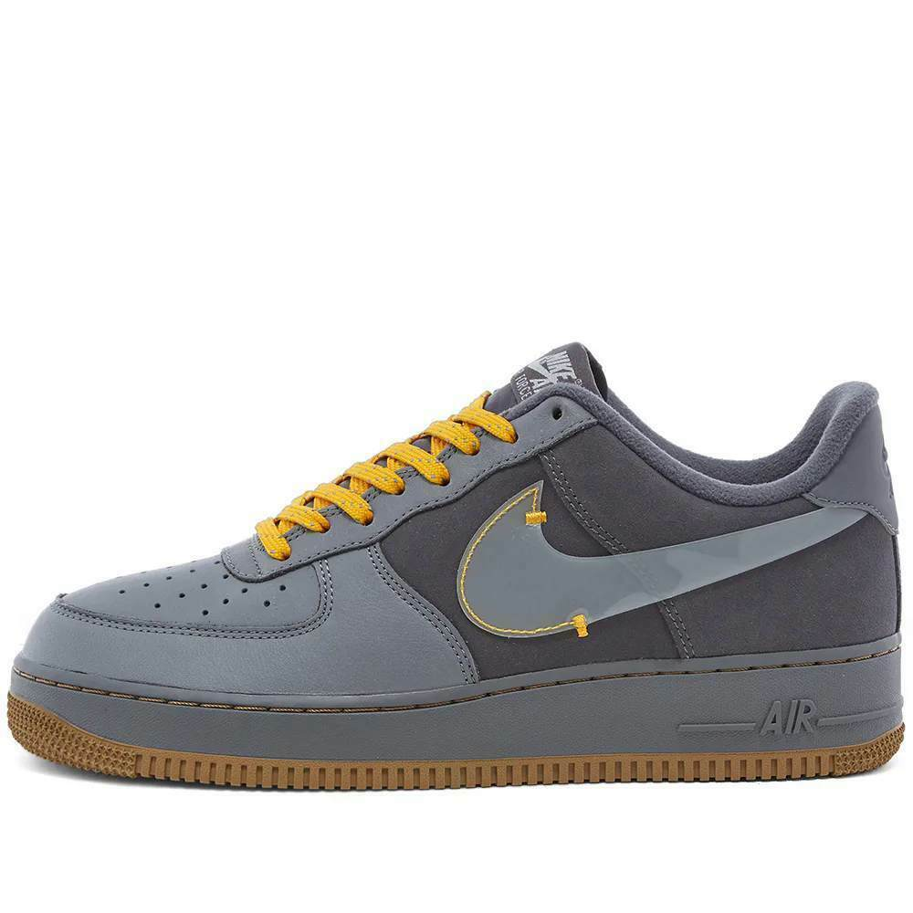 Nike Air Force 1 Premium Grey / Yellow Shoes / Trainers