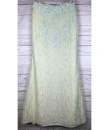 JVN by Jovani Mermaid Maxi Skirt Women's 4 Mint Green Lace Embellished Long - $84.99