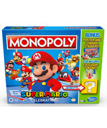 Monopoly Super Mario Celebration Edition Board Game With Poster and Stic... - $65.99
