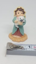 1988 HALLMARK MERRY MINIATURE  NATIVITY  SHEPHERD BOY WITH LAMB pre-owne... - $16.83