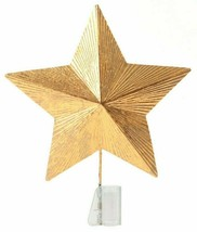 Star Tree Topper Gold Textured Foil Unlit Christmas Holiday Wondershop Target