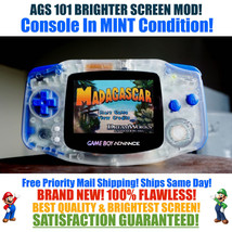 Nintendo Game Boy Advance GBA Clear System AGS 101 Brighter Backlit Mod ... - $119.90