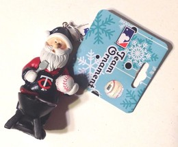 Christmas Ornament MN Twins Baseball Santa Tail Gaiting Grilling - $11.39