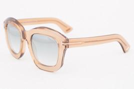 Tom Ford Julia Brown / Silver Mirror Sunglasses TF582 45P - $185.22