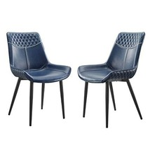 Linon Home Decor Products Linon Maisy Set of 2 Blue Dining Chair, Navy - $999.99