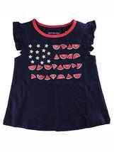 First Impressions Baby Girls Watermelon Flag Flutter-Sleeve T-Shirt - $9.00