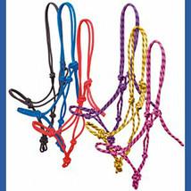 Rope Halter! Orange and Black - Horse Size image 2