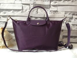 Longchamp Le Pliage Large Purple Handbag Neo Shoulder Strap 1515578645 - $84.99