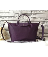 Longchamp Le Pliage Large Purple Handbag Neo Shoulder Strap 1515578645 - $79.99