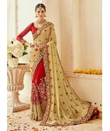 Traditional Designer Saree Indian Bollywood Style Wedding Party Wear Sar... - $69.99