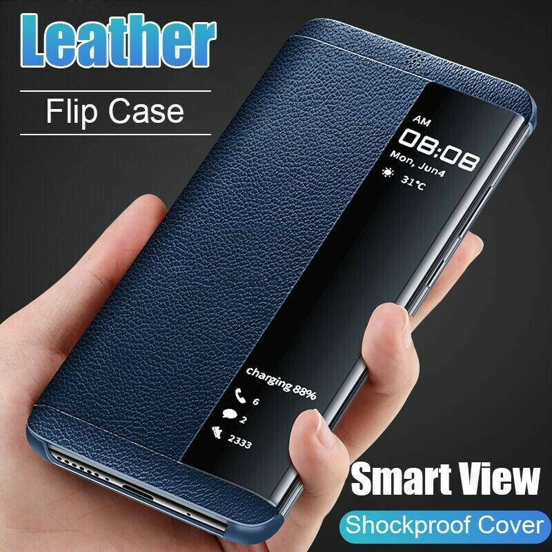 Primary image for Smart View Window Flip Leather Cover Case For Samsung Galaxy S10 S9 S8 J4 J6