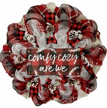 Comfy Cozy Are We Winter Wreath Handmade Deco Mesh - $92.99