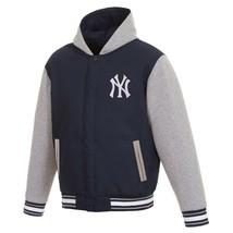 MLB  New York Yankees  JH Design Two Tone Reversible Fleece Hooded Jacket - $109.99