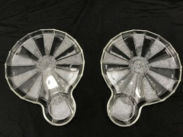 Vintage Jeannette Glass Co. 'Dewdrop' crystal snack plates X2! Mint condition! - $31.43
