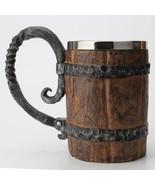 Wooden Stainless Steel Resin 3D Beer Mug Goblet Coffee Cup Wine Glass Mu... - $39.90