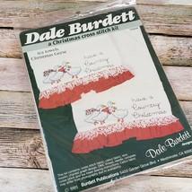 Dale Burdett Christmas Tea Towels Geese Pattern Cross Stitch Kit 1985 Vi... - $24.75