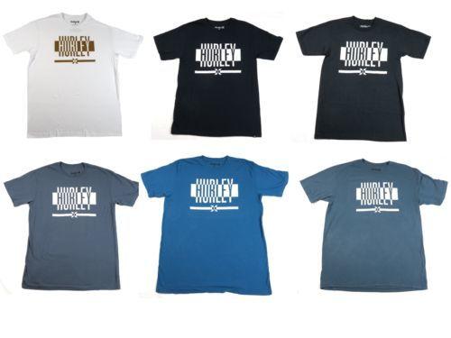 Hurley Men's Tee Shirt Splitting Off T-Shirt Short Sleeve Crew Neck NEW