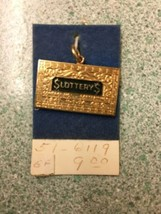 Vintage Lottery pendant charm medallion pin Sterling NOS - $19.99