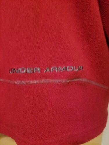 Under Armour Red Fleece Jacket Half Zip Long Sleeve Mens Size XL Extra Large UA  image 7