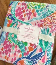 Pottery Barn Kids Mermaid's Cove Sheet Set Pink Full Lilly Pulitzer 4pc  - $110.96