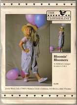 UNCUT - THE CLOTHESLINE CL-201 BLOOMIN' BLOOMERS Child's Romper Sz 4-6 - $12.99