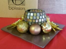 2007 Avon Expressions Elegance - Ornament Votive Plate Gold Platinum F31... - $5.93
