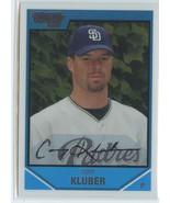 COREY KLUBER RC 2007 Bowman Chrome Draft Picks #BDPP29 Padres Baseball Card - $4.99