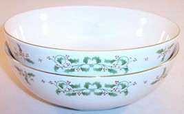 Lot of 2 Gibson Soup Cereal Bowls, Holiday Charm, Christmas, Mint! - $9.99