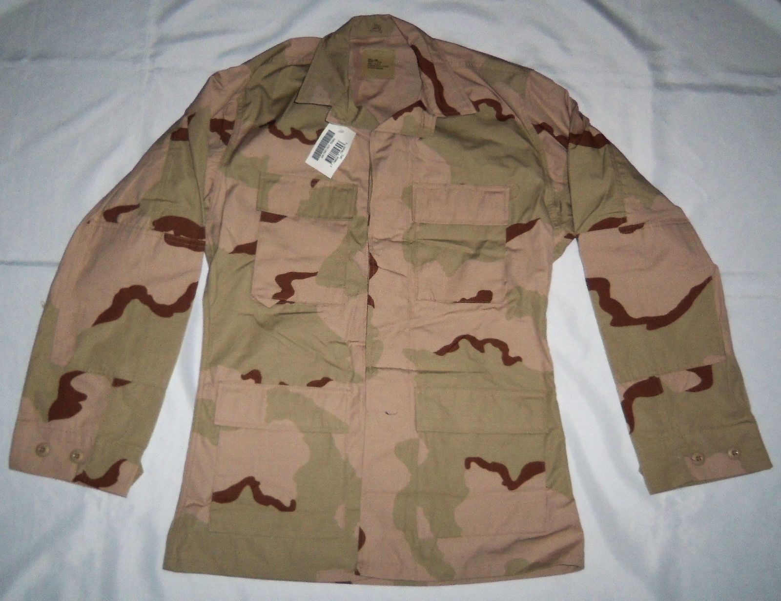 55b20abd0ed96 57. 57. Previous. Army U.S. Military Camo Desert Coat Camouflage Pattern  Combat Jacket SMALL- LONG · Army ...